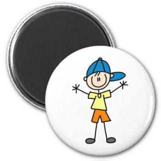 Stick Figure Boy Magnet