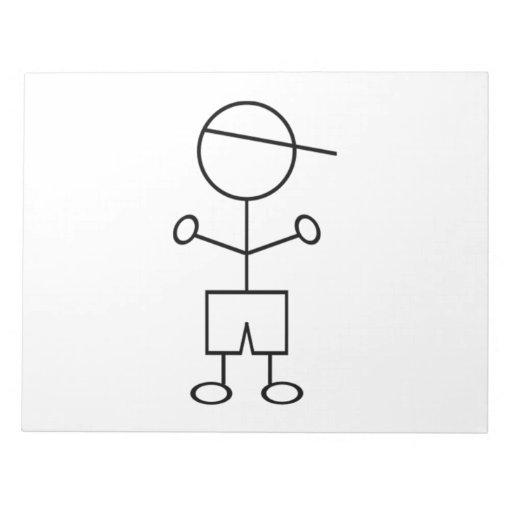 Stick Figure Boy Notepads