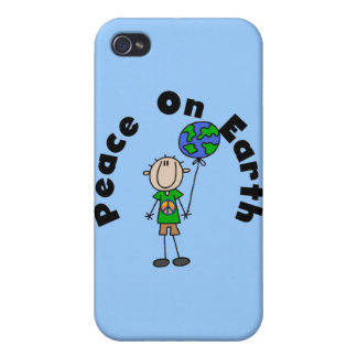 Stick Figure Boy Peace on Earth and Gifts Cases For iPhone 4