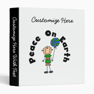 Stick Figure Boy Peace on Earth T-shirts and Gifts Binder