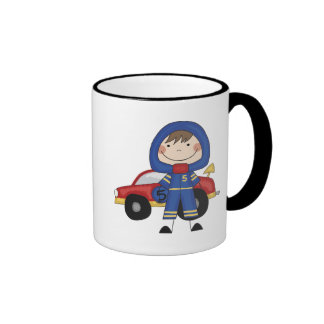 Stick Figure Boy Race Car Driver Tshirts Mugs