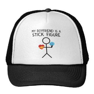 Stick Figure Boyfriend Trucker Hats