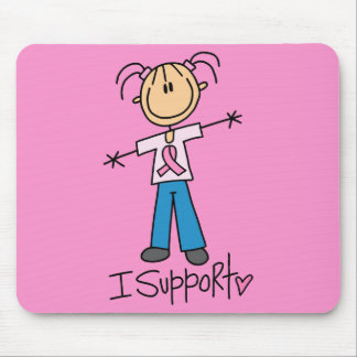 Stick Figure Breast Cancer Support Mouse Pad