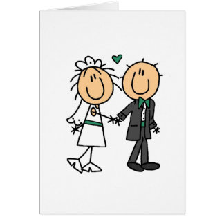 Stick Figure Bride and Groom T-shirts and Gifts Card