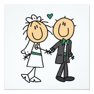 Stick Figure Bride and Groom T-shirts and Gifts Personalized Invite