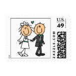 Stick Figure Bride and Groom T-shirts and Gifts Stamp