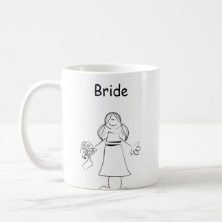 Stick Figure Bride Coffee Mug