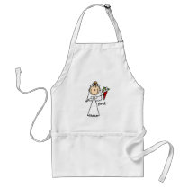 Stick Figure Bride T shirts and Gifts Adult Apron