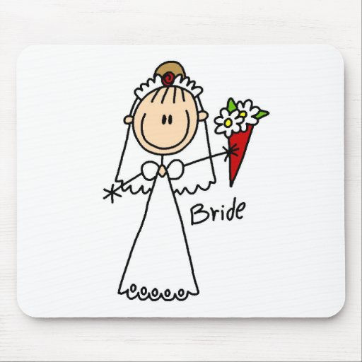 Stick Figure Bride T shirts and Gifts Mousepad