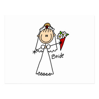 Stick Figure Bride T shirts and Gifts Postcard