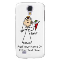 Stick Figure Bride T shirts and Gifts Samsung S4 Case
