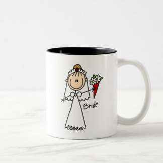 Stick Figure Bride T shirts and Gifts Two-Tone Coffee Mug