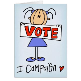 Stick Figure Campaign Worker Card