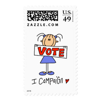Stick Figure Campaign Worker Postage