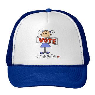 Stick Figure Campaign Worker Trucker Hat