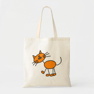 Stick Figure Cat T-shirts and Gifts Canvas Bags