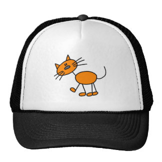 Stick Figure Cat T-shirts and Gifts Trucker Hat