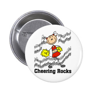 Stick Figure Cheering Rocks T-shirts and Gifts Buttons