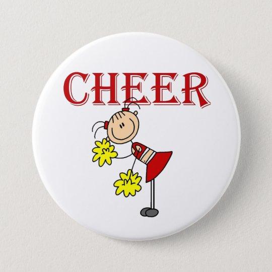 Stick Figure Cheerleader Button