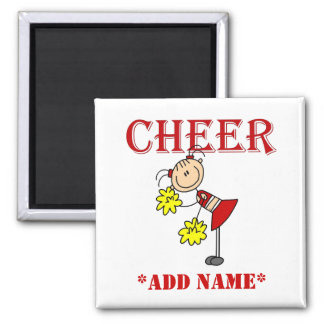 Stick Figure Cheerleader Magnet