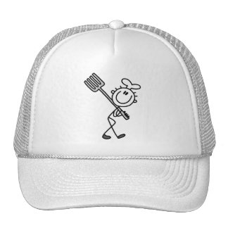 Stick Figure Chef with Fork Tshirts and Gifts Mesh Hat