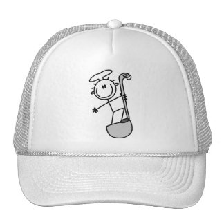 Stick Figure Chef with Ladle Mesh Hats