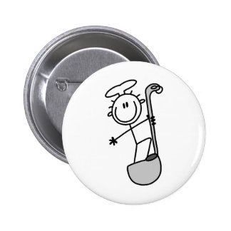 Stick Figure Chef with Ladle Pin