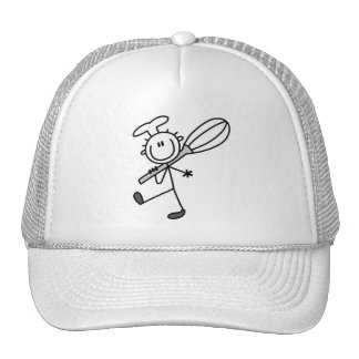 Stick Figure Chef with Whisk Tshirts Hat