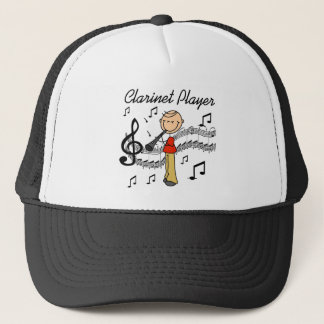 Stick Figure Clarinet Player Tshirts and Gifts Trucker Hat