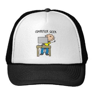 Stick Figure Computer Geek Baseball Cap Trucker Hat