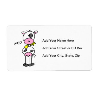 Stick Figure Cow T-shirts and GIfts Label