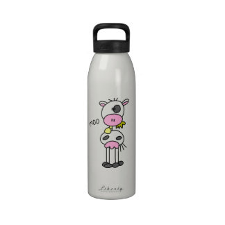 Stick Figure Cow T-shirts and GIfts Water Bottles