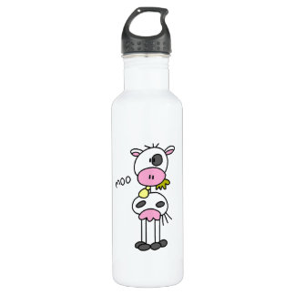 Stick Figure Cow T-shirts and Stainless Steel Water Bottle