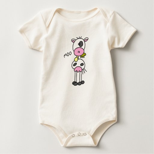 Stick Figure Cow Tshirts and Gifts