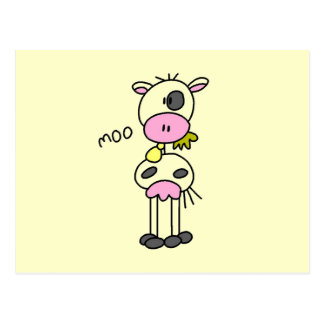 Stick Figure Cow Tshirts and Gifts Postcard