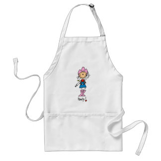 Stick Figure Cowgirl in Pink Hat/Boots Apron