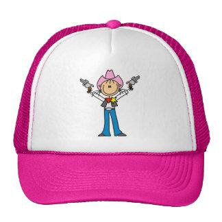 Stick Figure Cowgirl Sheriff Hat
