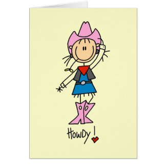 Stick Figure Cowgirl T-shirts and Gifts Card