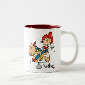 Stick Figure Cowgirl Yee Haw Mug