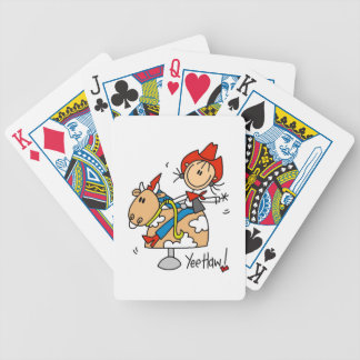 Stick Figure Cowgirl Yee Haw T-shirts and Gifts Bicycle Playing Cards