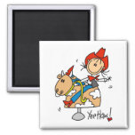 Stick Figure Cowgirl Yee Haw Tshirts and Gifts Refrigerator Magnets