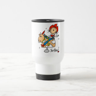 Stick Figure Cowgirl Yee Haw Tshirts and Gifts 15 Oz Stainless Steel Travel Mug