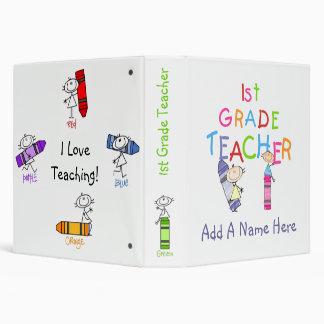 Stick Figure Crayons 1st Grade Teacher Binder