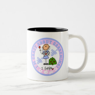 Stick Figure Crazy About Gardening T-shirts Two-Tone Coffee Mug