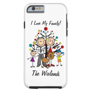 Stick Figure Dad, Mom, Girl, Boy, Dog iPhone 6 Tough iPhone 6 Case