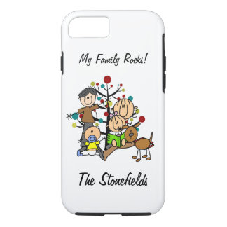 Stick Figure Dad, Mom, Girl, Boy, Dog iPhone 7 iPhone 7 Case