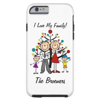 Stick Figure Dad, Mom, Girl, Boy  iPhone 6 Tough iPhone 6 Case