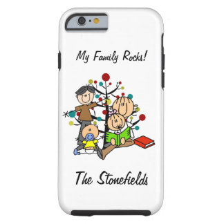 Stick Figure Dad, Mom, Girl, Toddler Boy iPhone 6 Tough iPhone 6 Case