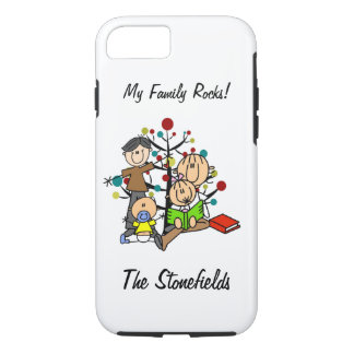Stick Figure Dad, Mom, Girl, Toddler Boy iPhone 7 iPhone 7 Case
