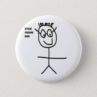 Stick Figure Dan Pinback Button